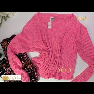 Pink pullover sweater size s new